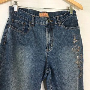Zena Embroidered Jeans Sz 8